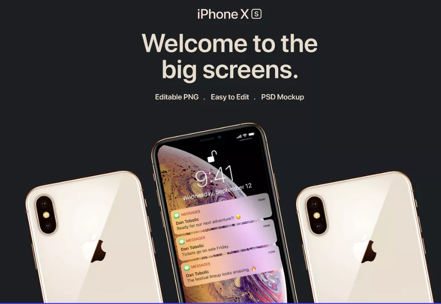 New iPhone XS Mockup