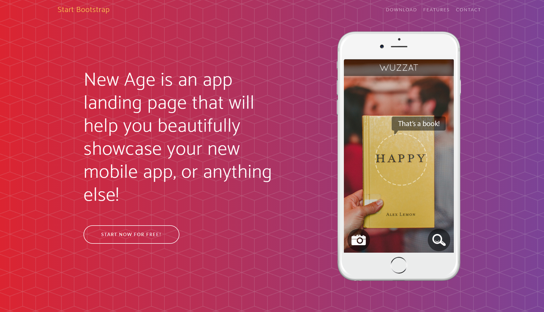New Age - Bootstrap App Landing Page Template