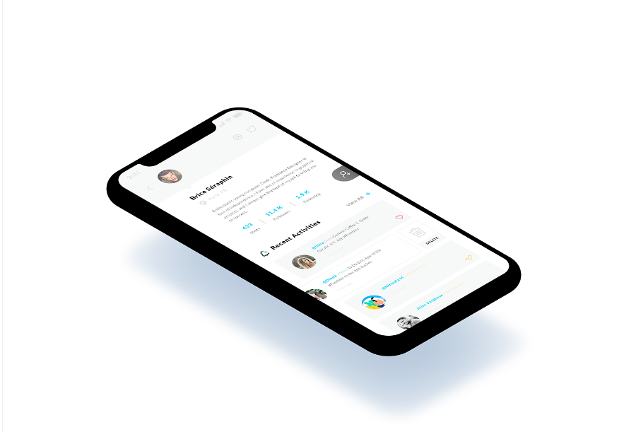 17. Recent Activities. iPhone X mockup #Freebies