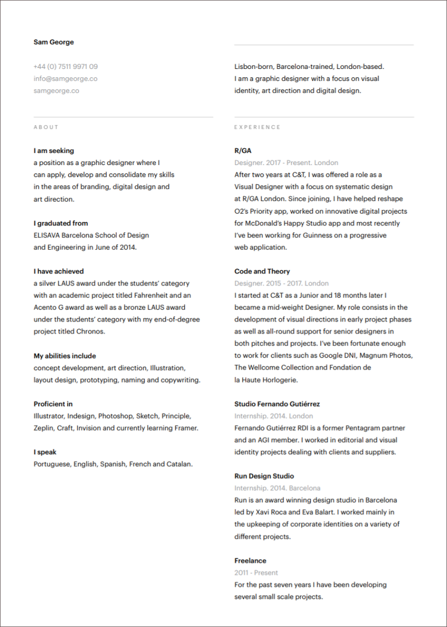 5 Years Experience Resume Format from file.mockplus.com