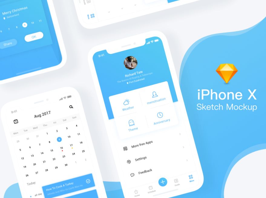 13. iPhone X Sketch mockup