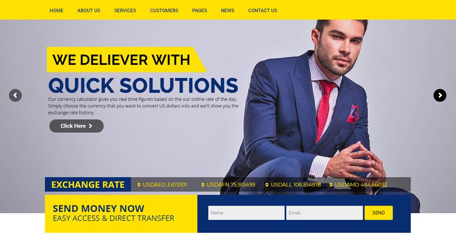 Monex – WordPress money exchange & finance website template