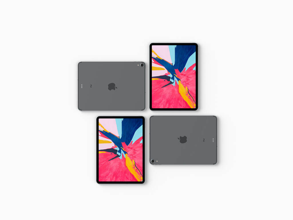 Top View iPad Pro 2018 Mockup Set Vol.2