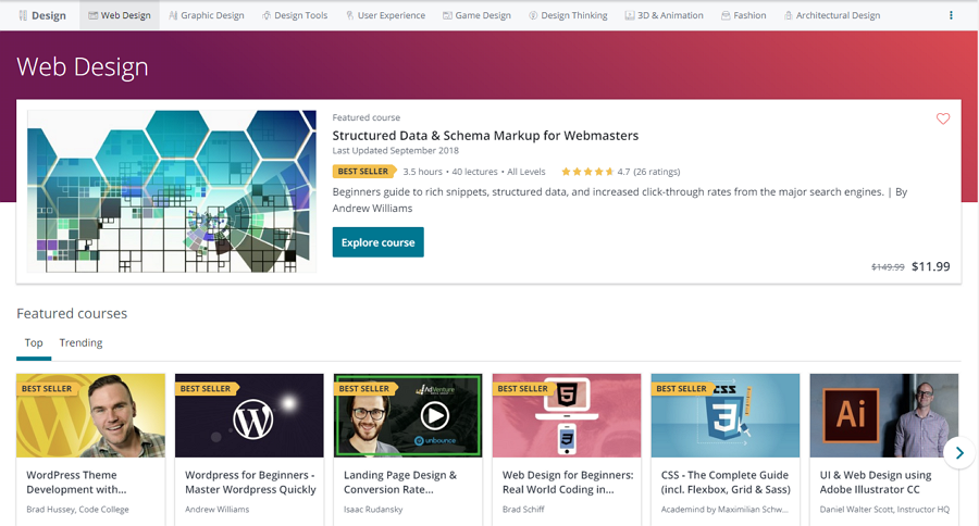 Web Design Courses: Build Websites for Yourself or Clients on Udemy
