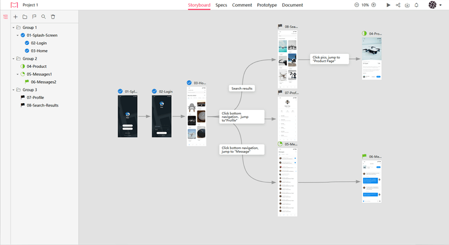 Create A Good Flowchart with Simple Drag and Drop in Mockplus iDoc