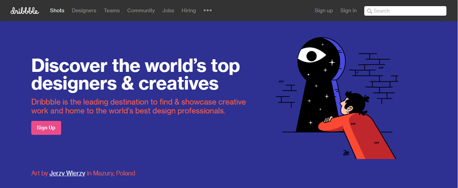Create a Portfolio on Dribbble.com