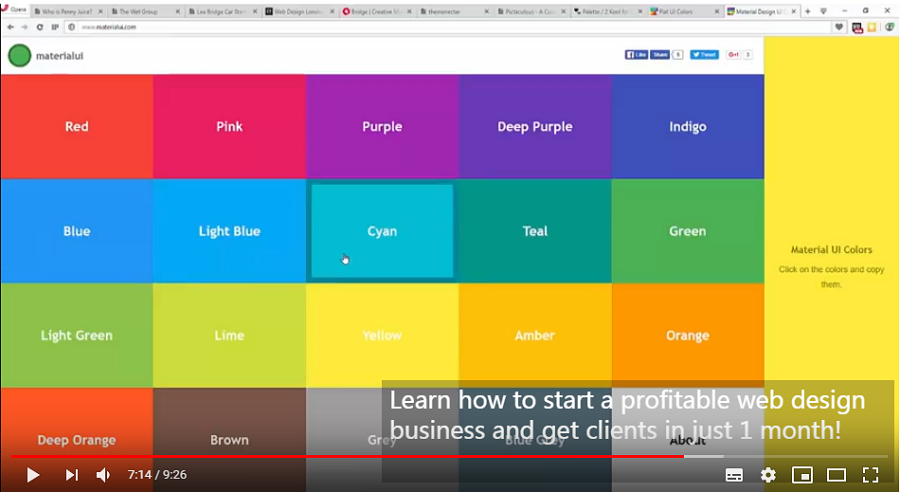 Learn Web Design: How to Create Color Schemes