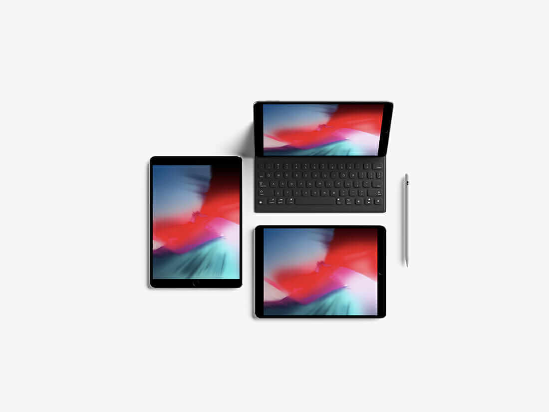 Modern Top View iPad Pro 10.5-inch Mockup