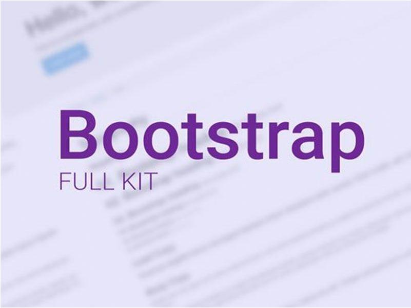 Adobe XD Bootstrap UI Kits