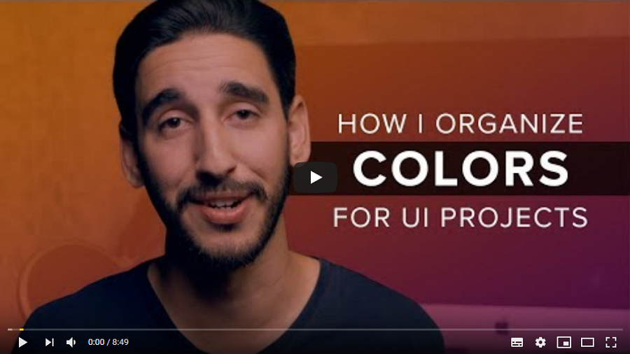 How to Organize Colors for A UI Design Project