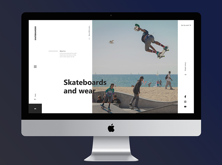 Skateboarder – Free Xd UI Kit for Adobe XD
