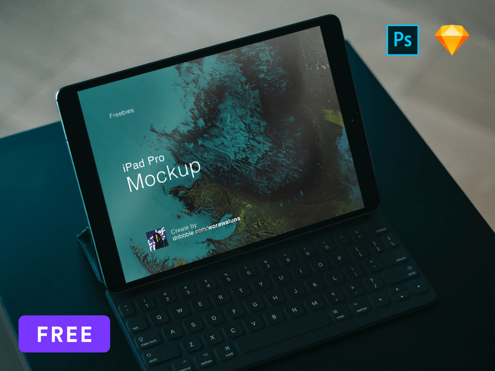 Mockup iPad Pro Sketch and PSD