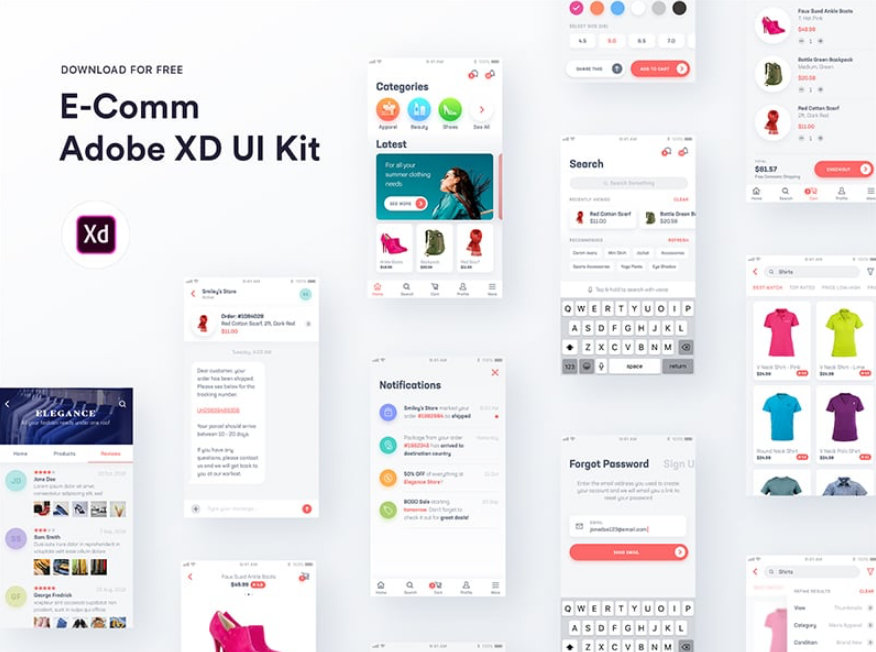 35 Best Free Adobe XD UI Kit for APP and Web Design