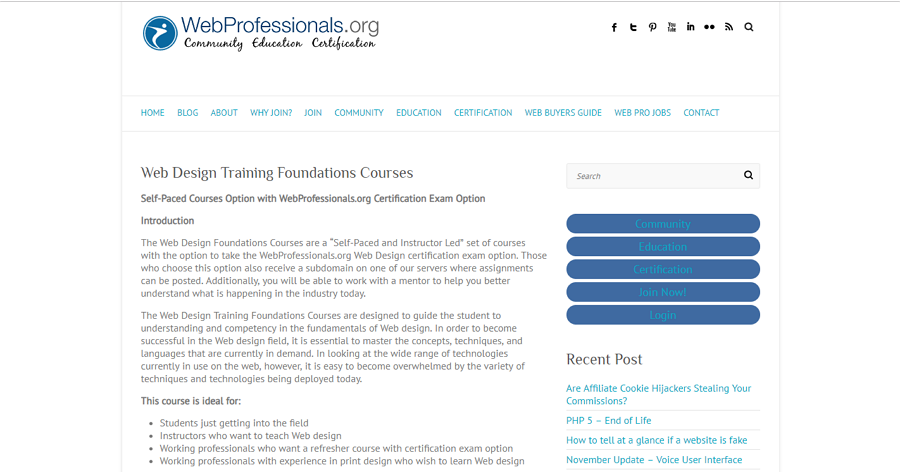 Web Design Training Foundation Courses on Web Professionals