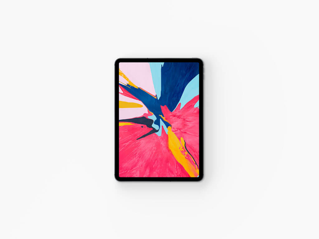 Top View iPad Pro 2018 Mockup Set