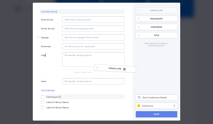 Customize Form Template