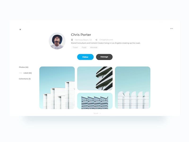 Clean Web Profile Page