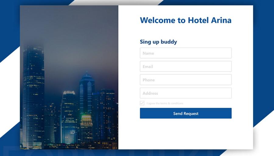Web Form UI Template (Adobe XD)