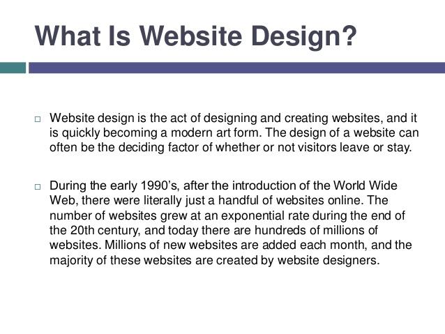 What is website design