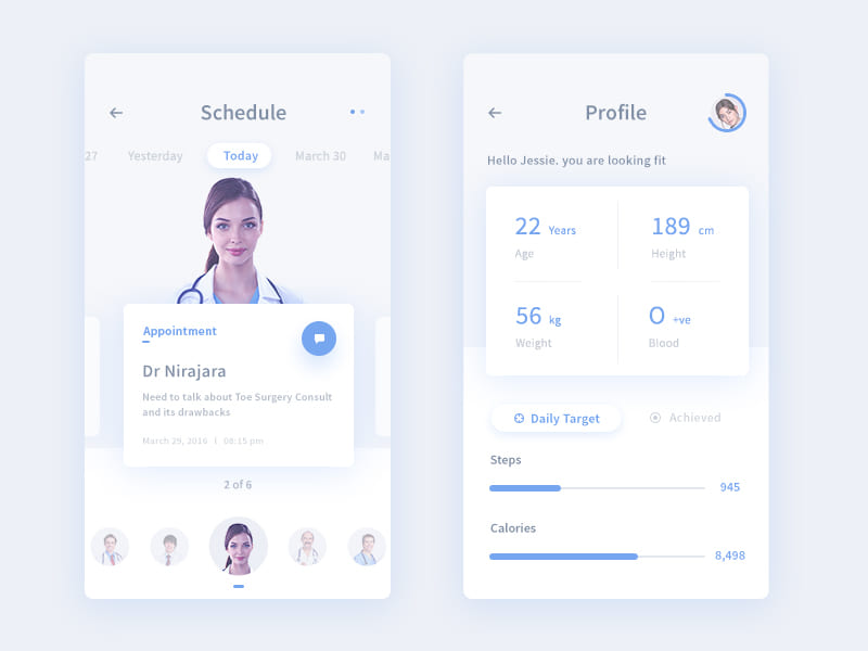50 Free Profile Page Design Samples&Templates [PSD+Sketch] for You