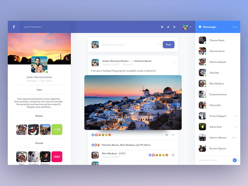 Facebook profile redesign