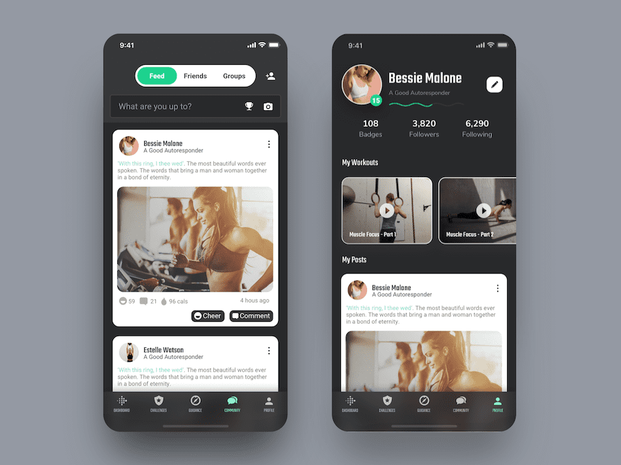 Profile of Fitness App