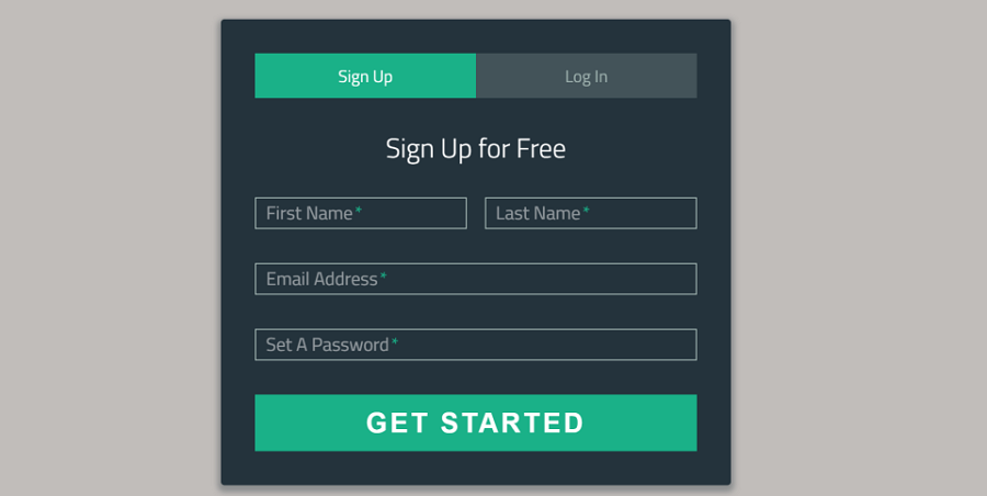 Sign-Up/Login Form