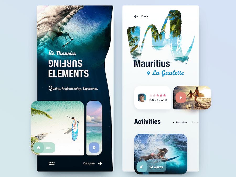 Travel App Concept-Ile Maurice