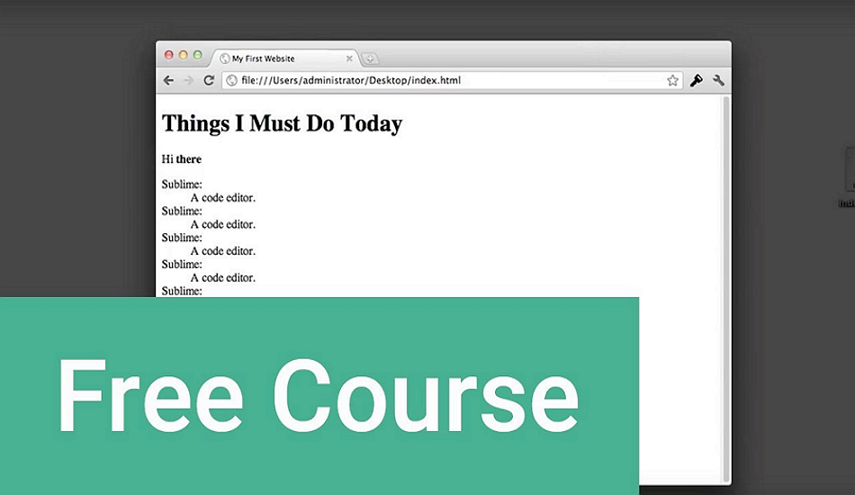 Free HTML courses for beginners