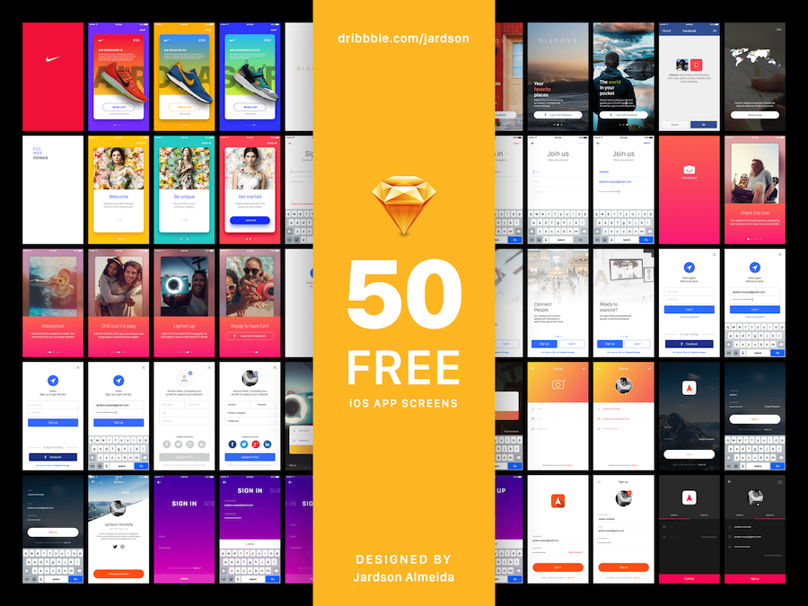 Sign In Project • 50 FREE iOS App Screens