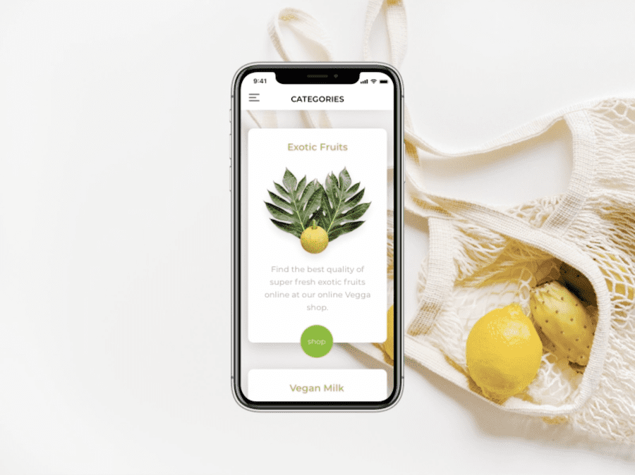 Healthy food delivery app