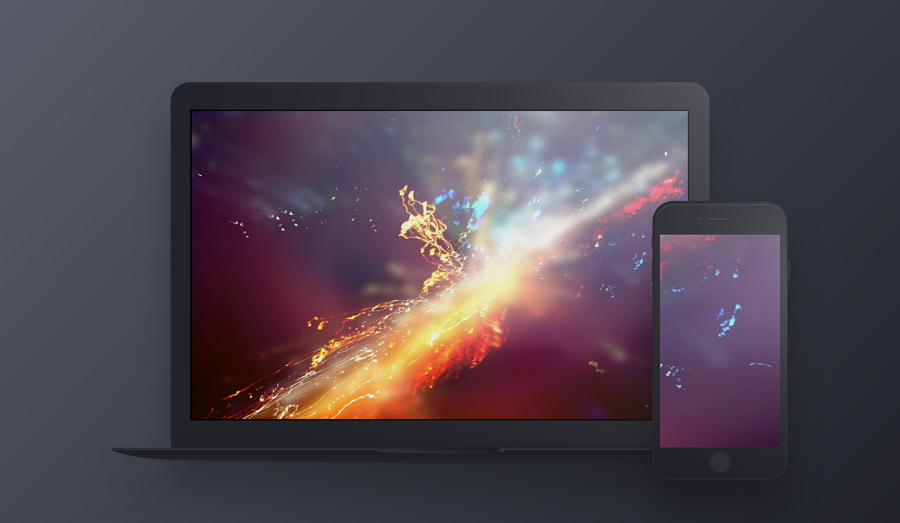 Free Dark Macbook Device Mockup Sketch