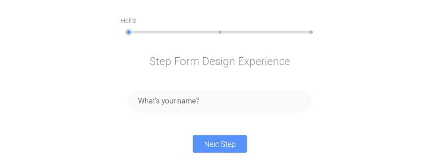 Step-by-Step Form Interaction