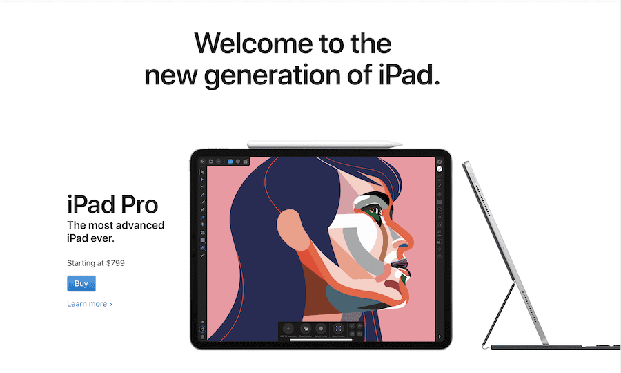 Apple's official website
