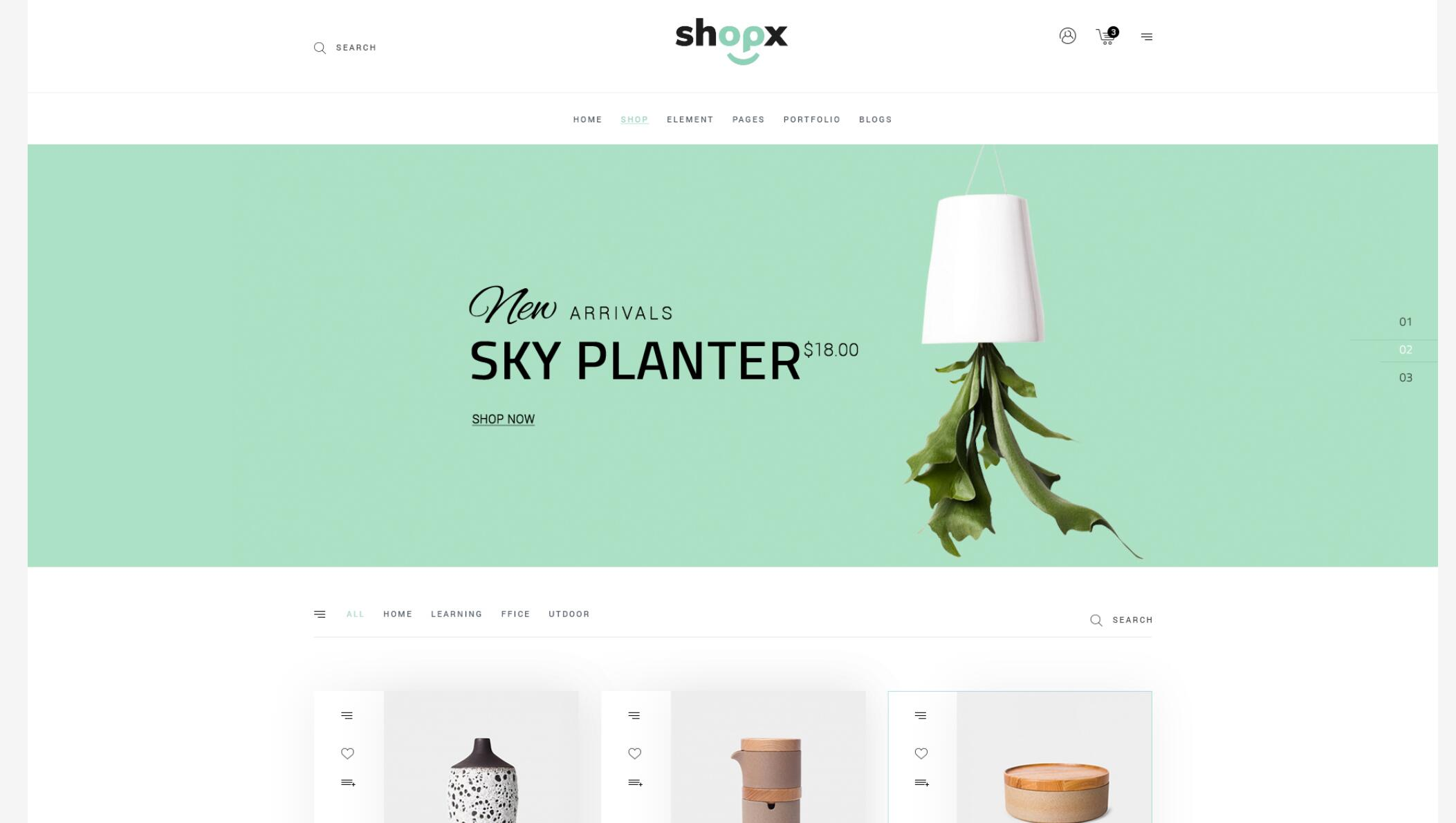Shopx - Responsive eCommerce Store PSD Template