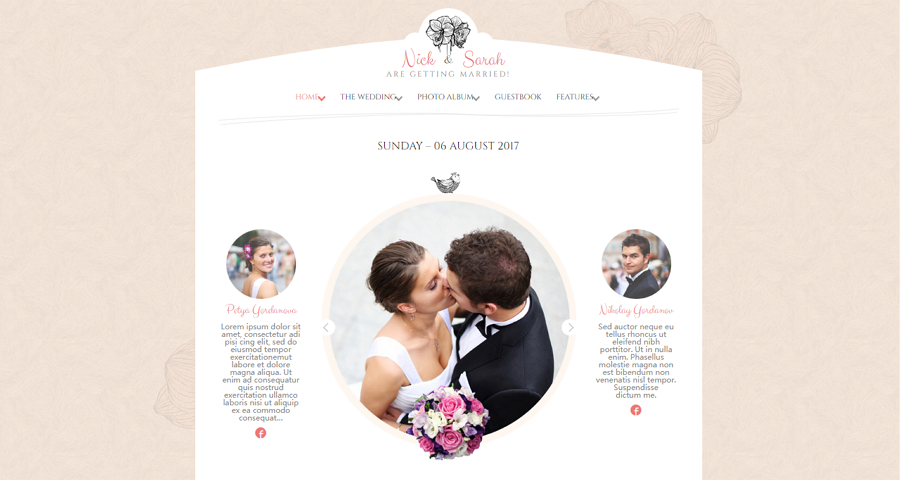 Responsive HTML5 Wedding Website Template