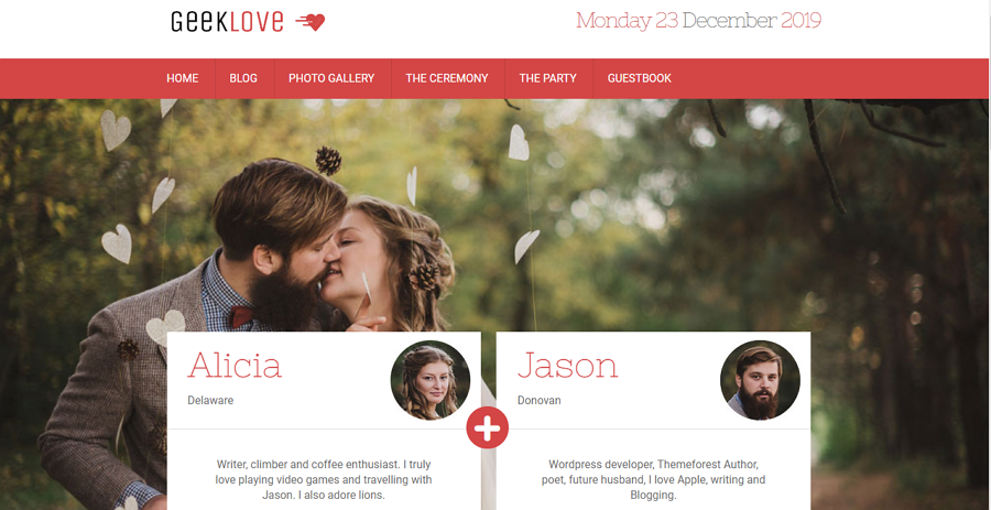 Responsive WordPress Wedding Website Template
