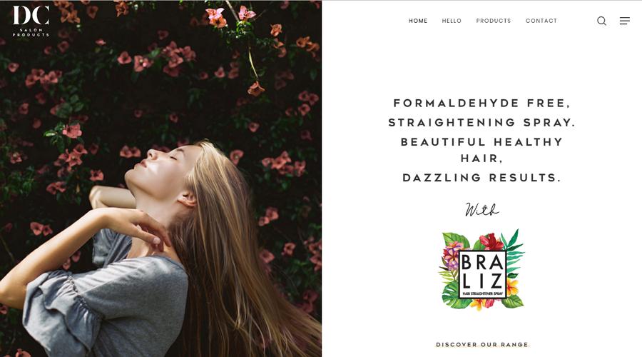 DC Salon Product CSS3 Minimalist Website Template