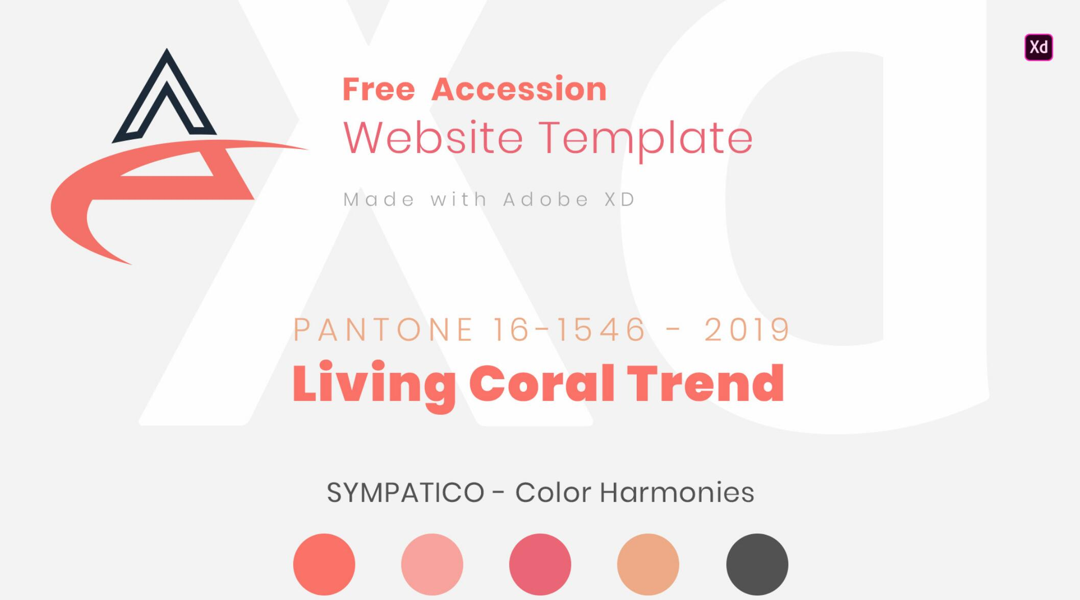 Free Accession - Responsive Website Template Pantone 2019 Color