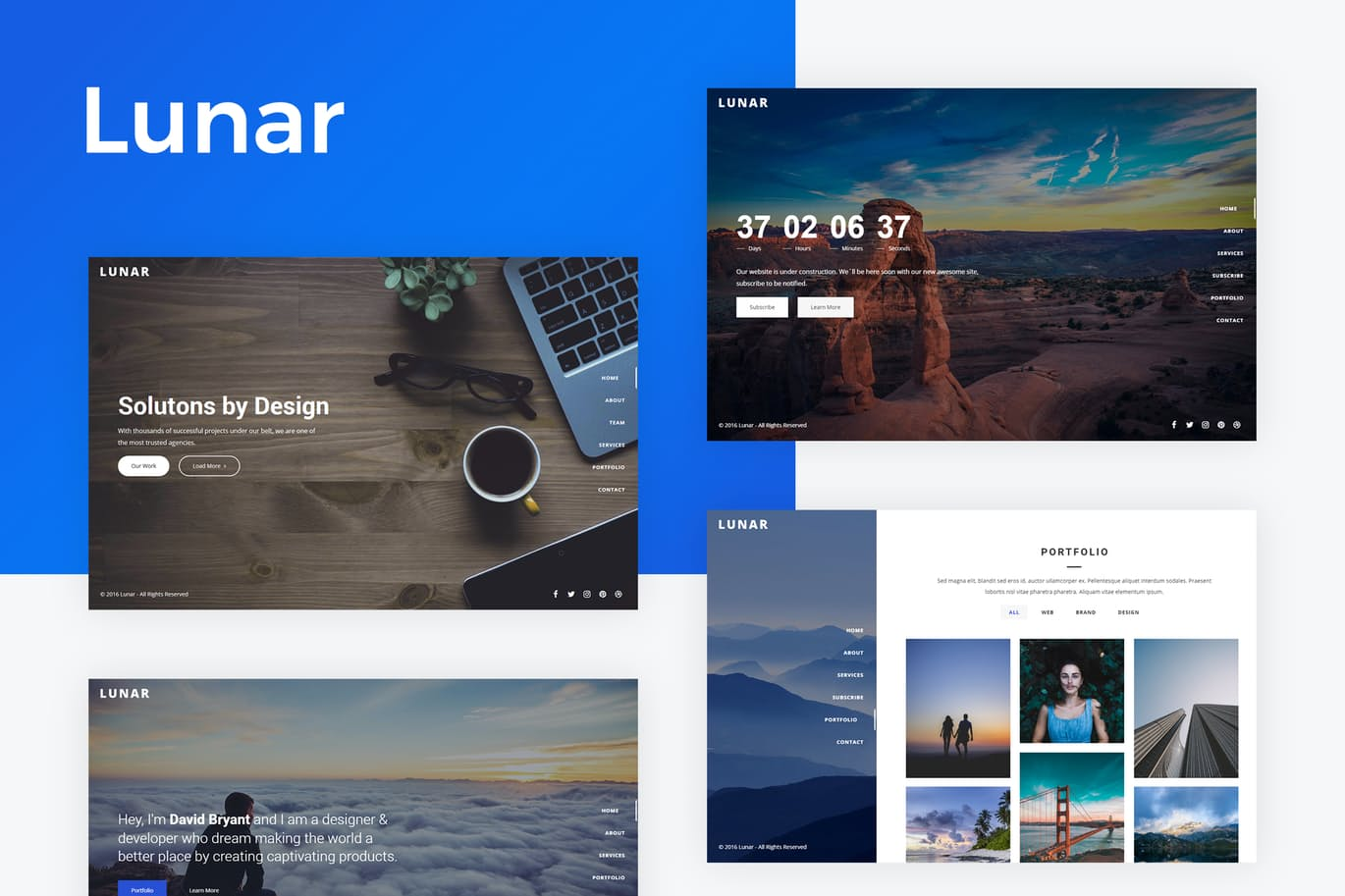 Lunar – Responsive Coming SoonTemplate