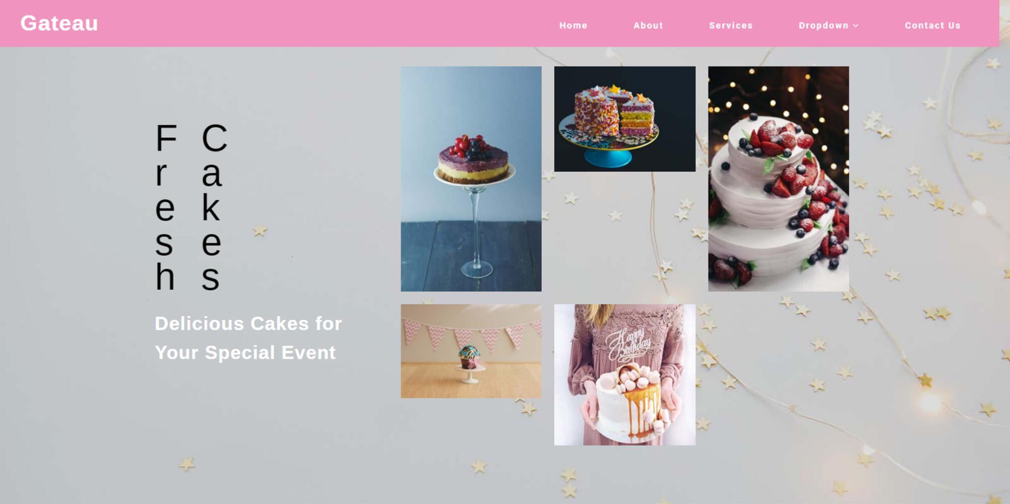 Gateau - Bootstrap Responsive Web Mockup for Restaurant