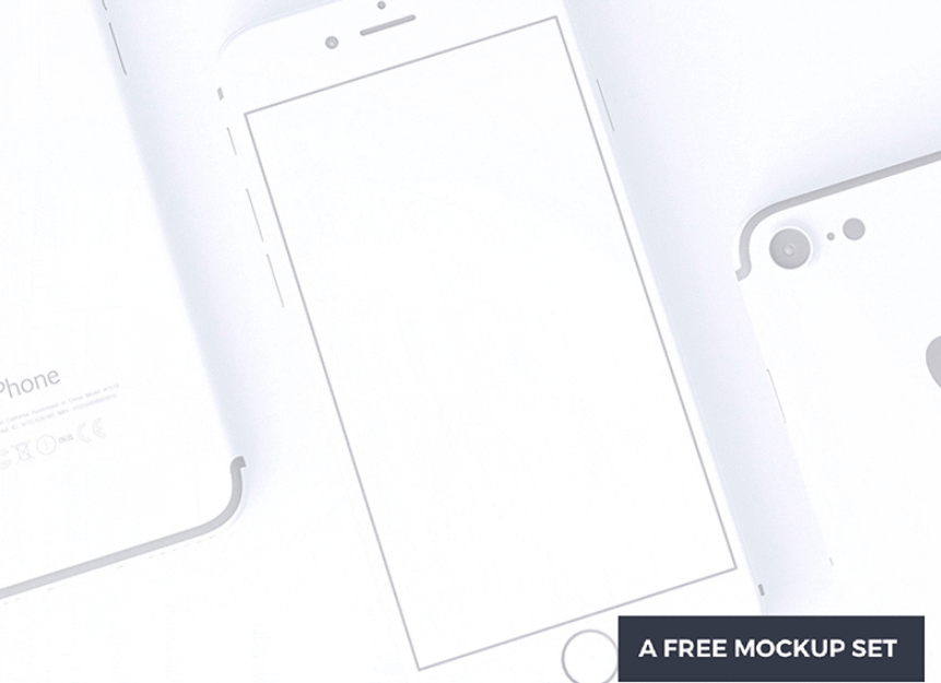 A set of free clay-look iPhone 7 mockups