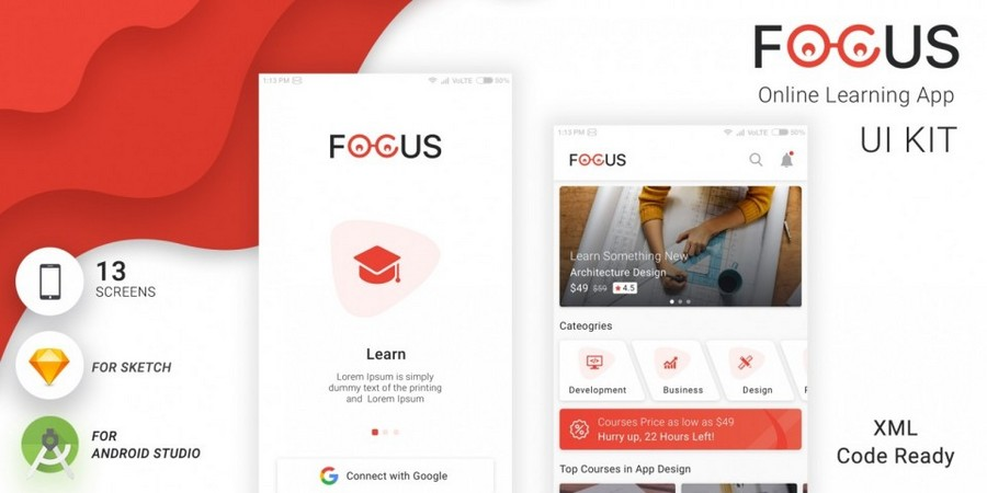 FOCUS - Online Learning App