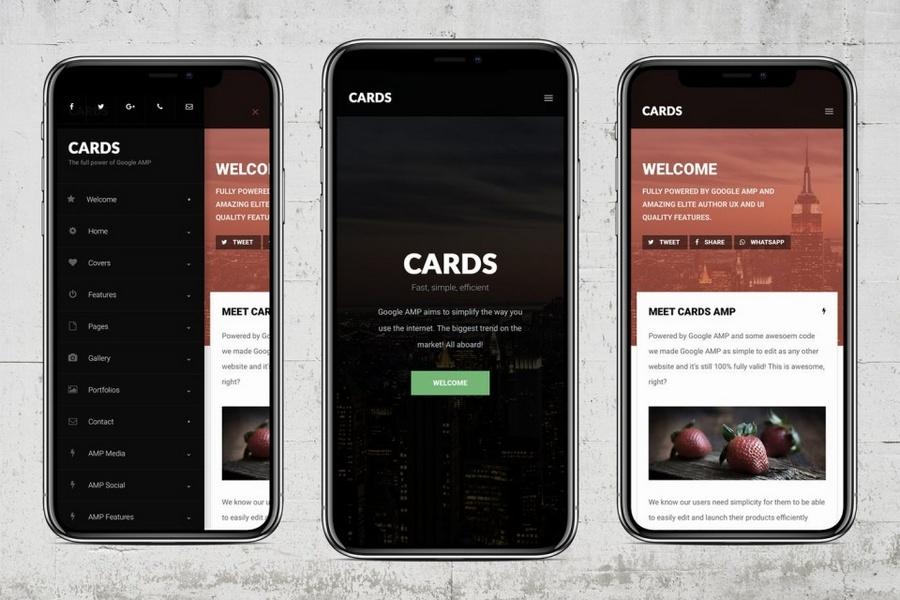 AMP Cards - Google AMP App