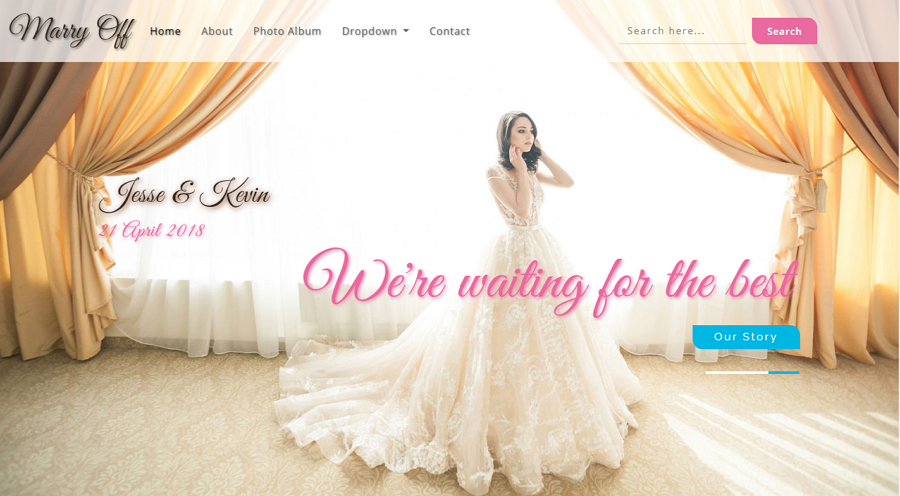 Free Marry Off Responsive Bootstrap Wedding Web Template