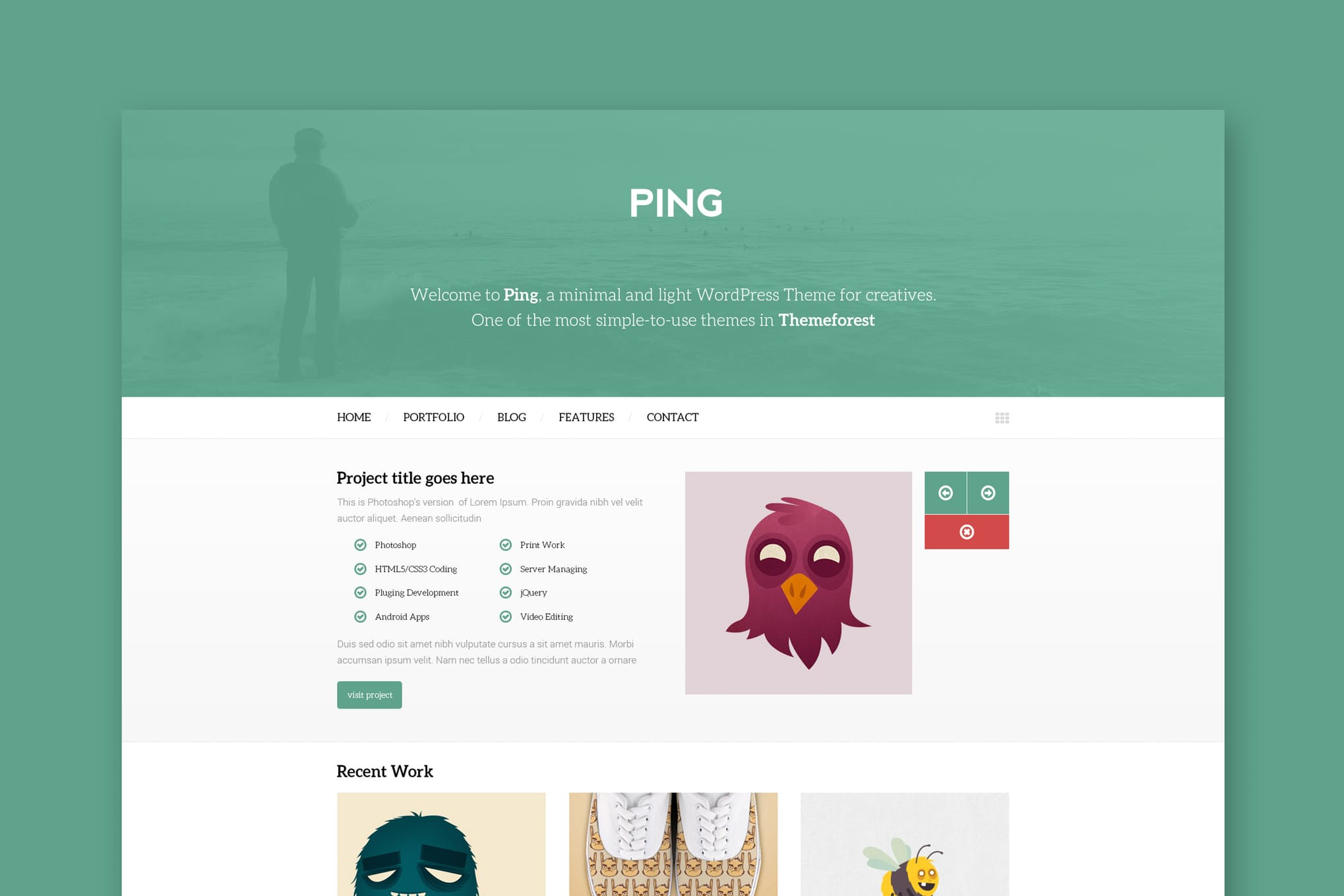 Ping - Minimal Responsive HTML Mockup Template
