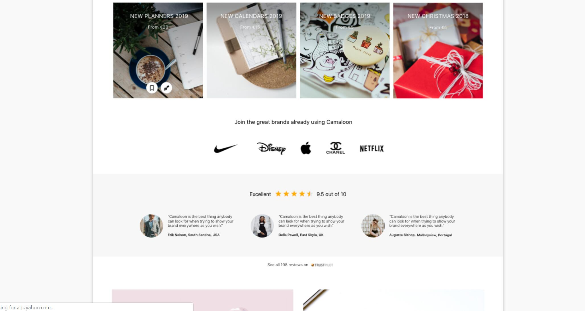 Stickers – E-commerce Home Website Mockup