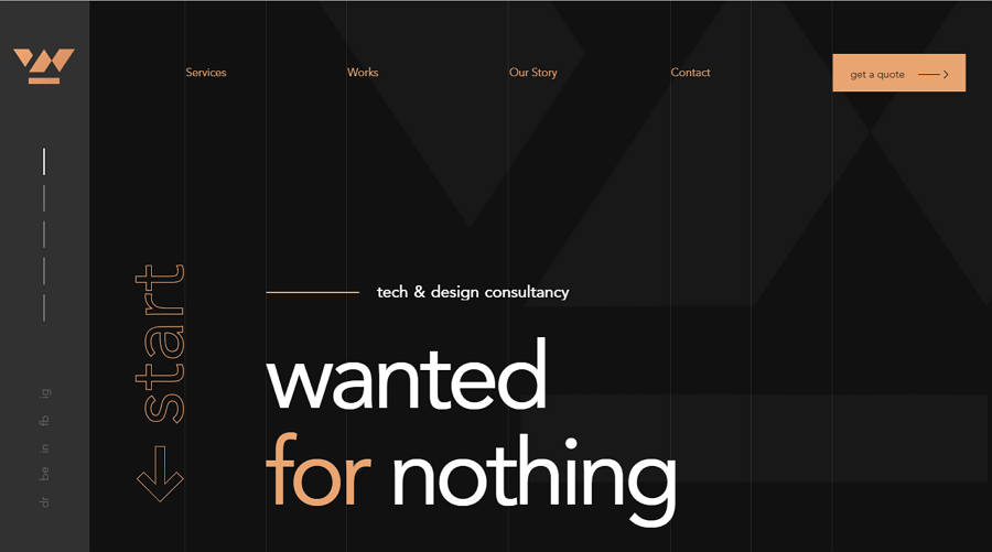 Wanted for Nothing Responsive Clean Website Template