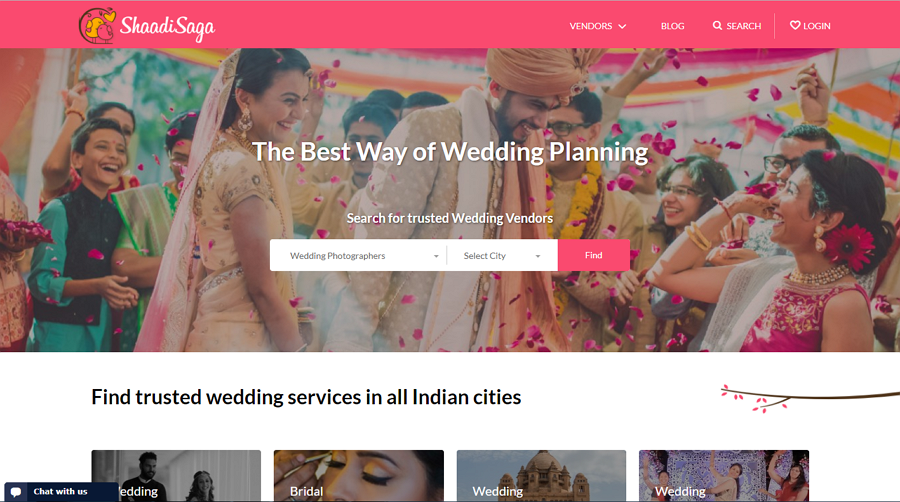 Shaadi Saga Wedding Website Example
