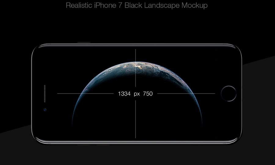 iPhone 7 Black - Free PSD Mockup